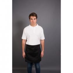 Short Apron With Pocket Black