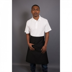 Long Apron With Pocket Black